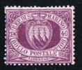 1877  Stemma  40 C.  Gomma Parziale  Firmato - Unused Stamps