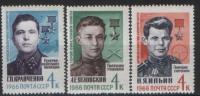 USSR, 1966 SK № 3237-3239 Great Patriotic War Heroes - 1923-1991 URSS