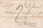"""Cursive """"32 BRANNE"""" Associée Au Cad13 LIBOURNE,avec Corresp. Du 19 Mai 1834. - Poststempel (Briefe)"""