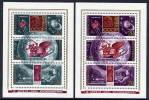 SOVIET UNION 1973 Cosmonauts Day  Blocks MNH / **...  Michel Block 85-86 - Espace