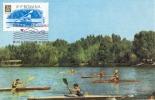 D05729 CARTE MAXIMUM CARD 1963 ROMANIA - KAYAK CANOE CP ORIGINAL - Rowing