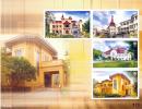 THAILAND - 2010 - Mi BL. 246 - THAI HERITAGE CONSERVATION - THAI PALACES S/S - MNH ** - Thailand