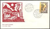 Italia 1966 - FDC 1024 - Propaganda Turistica - 6. 1946-.. Repubblica