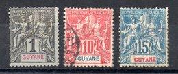 Guyane  Guyana Y&T 30(*),35°,  44° - Used Stamps
