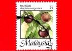 MALESIA - MALAYSIA - Usato - 2005 - Frutti Tropicali - Garcinia Mangostana - 1 - Malesia (1964-...)