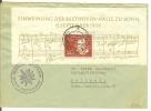 (617) Bund MiNr. 317 Aus Block, (EF Mi€ 75,00), Beethoven, FREIBURG (Breisgau) 14.7.1960 N. Rottweil, Alpenverein - Briefe U. Dokumente