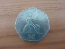 Pièce 50 NEW PENCE (GRANDE-BRETAGNE) ELISABETH II 1969 MD - 1971-… : Monnaies Décimales