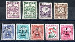Réunion Y&T Taxe 16*, 17*, 26*, 27*, 36* - 38*, 48*, 45* - Réunion (1852-1975)