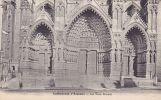 Cp , 80 , AMIENS , Cathédrale , Les Trois Portails - Amiens