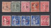 Franchise Militaire -  Lot  De 10  Timbres  Oblitérés -  ( Cote  31,25 €) - Franchise Militaire (timbres)