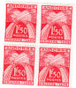 ANDORRE- 4 Chiffre-taxe Neufs Nxx Se Tenant-valeur Faciale 1.50 F R -n° Yver T25  (cote Chacun :7.50 Eur) - Timbres-taxe
