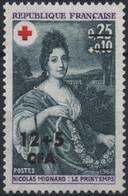 REUNION CFA Poste 381 ** MNH Croix-Rouge  Tableau Nicolas MIGNARD : Le Printemps Peintre Painter - Unused Stamps