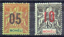 Mohéli  Moheli Y&T 18*, 21* - Moheli (1906-1912)