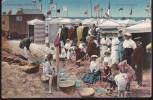 CPA - (Allemagne) Nordseebad Borkum Strandunterhaltung (obl.1916) (un Pli D'angle) - Borkum
