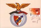 PORTUGAL   SPORT LISBOA E BENFICA SOCCER   STEMMA  FOOTBALL CALCIO MAXIMUN OFFICIAL  BOLLO ORIGINALE - Football