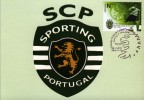 SPORTING CLUB DE PORTUGAL  SOCCER   STEMMA  FOOTBALL CALCIO MAXIMUN OFFICIAL  BOLLO ORIGINALE - Football