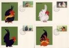 THAILAND - 8 Maximumkarten  Hühner , Fasane - Gallinaceans & Pheasants