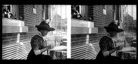 Belle Plaque Stereo Début De Siècle Belle Dame à L'écriture Plume Fait à Visé - Plaques De Verre