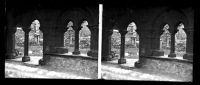 Belle Plaque Stereo Début De Siècle Saint Bavon à Gand - Plaques De Verre