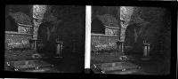 Belle Plaque Stereo Début De Siècle Saint Bavon à Gand Sepia - Plaques De Verre