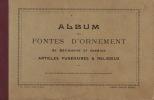 Gros Catalogue Fonte D'ornement Funeraire Religieux Croix Balcon Bougeoir Crachoir Banc Gaufrier Chenet Plaque ... - Documents Historiques
