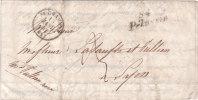 """Cursive """"84 PELUSSIN""""associée Au Cad 15 St Chamond,avec Correspondance Du 15 Janvier 1842 - Poststempel (Briefe)"""