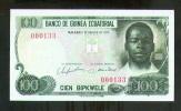 EQUATORIAL GUINEA 100 BIPKWELE 1979 LOW # PICK # 14 UNC. - Guinée Equatoriale