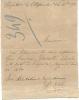 HOPITAL DE VILLEFRANCHE SUR MER . AVIS DE SORTIE SUR CARTE LETTRE - Documents Historiques