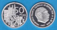 """ESPAÑA  /  ESTADO ESPAÑOL  / FRANCO 50 PESETAS 1.957 # 64 PROOF SC/UNC """"25 AÑOS DE LA PAZ"""" DL-10.076 - 50 Pesetas"""