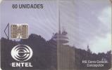 TARJETA DE CHILE DE EL CERRO CARACOL   (NUEVA-MINT) ANTENA TELECOMUNICACIONES - Chile