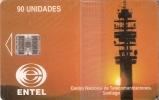 TARJETA DE CHILE DE CENTRO NACIONAL DE SANTIAGO(NUEVA-MINT) ANTENA TELECOMUNICACIONES - Chile