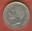 ESPAÑA : 5 Pta.1885*87 Silver Coin.King Alfonso XII.. MBC+.SUP.XF. - Non Classés