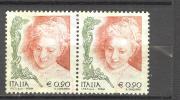 ITALIA ITALY STAMPS 2004   Coppia LA DONNA NELL´ARTE 5° EMISSIONE DA 0,90  SASSONE 2730 USATI DI QUALITA ´ BOLLI NITIDI - 6. 1946-.. Repubblica