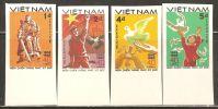 Vietnam 1985 Mi# 1562-1565 U (*) Mint No Gum - Imperf. - End Of World War II, 40th Anniv. - Vietnam
