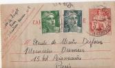 CARTE ENTIER CHAPLAIN GANDON PNEUMATIQUE - 1921-1960: Modern Period
