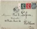 ENV EP SAGE TAXE REDUITE TARIF 25 Ctmes POUR USA - Postmark Collection (Covers)