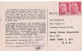 CP GRIFFE PARIS PLM ETRANGER  POUR USA  GANDON - 1921-1960: Modern Period