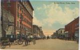 USA, Etats Unis, Oklahoma, Tulsa, Second Street, Carte Animée, Attelage, Chevaux, Carte Postale Ayant Circulé En 1923 - Tulsa