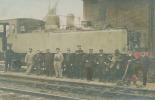 CPA Locomotive : Carte Photo Machine N° M 614  Trés Animée      VOIR  DESCRIPTIF  §§§ - Trains