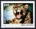India 1976 Wildlife 1r Leopard Used  SG 827 - India