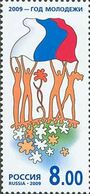 Russia 2009 - One The Year Of Youth / Youth And Flag Of Russia / Celebrations Childhood Stamp MNH Michel 1557 Ru 1325 - Childhood & Youth