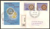 Italia 1970 - FDC 1134-35 - Rotary - Raccomandata - 6. 1946-.. Repubblica