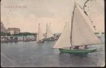 CPA - (Afrique Du Sud) Yachting In Durban Bay (obl.point Natal 1907) (un Angle Plié) - South Africa
