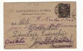 Romania Cover To Turkey 1893 Bucuresci Constantinople Galata Mustapha Pacha (g202) - 1881-1918: Carol I