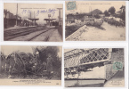 Lot De 10 CPA-Thème Transport: Trains, Bateau,tramway- - Cartes Postales
