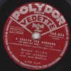 78 Tours - POLYDOR VEDETTE 560.024 - Bernard HILDA - SOUTH AMERICA TAKE IT AWAY - A CHACUN SON BONHEUR - 78 Rpm - Schellackplatten
