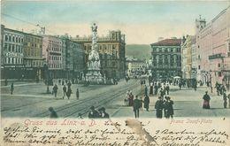Autriche - Austria - Haute Autriche - Gruss Au Linz A. D - Franz Josef Platz - état - Linz
