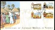 FDC NAMIBIA * YEAR 1996 * CENTENARY OF CATHOLIC MISSION IN NAMIBIA - Namibia (1990- ...)