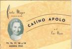 Progarma De Fiesta Mayor BADALONA (barcelona) 1951. Casino Apolo - Programmes