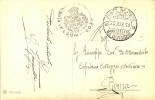 Regno D´Italia 1913 Occupazione Di Rodi Cartolina In Franchigia Bolli Posta Militare 6° Divisione E 4° Rgt  Bersaglieri - Militaria